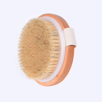 TREESMILE Natural bristles Bath brush Body Maasage No Handle Bath Brush Body Exfoliating SPA Hot Dry Skin Body Wooden Dry Brush 1