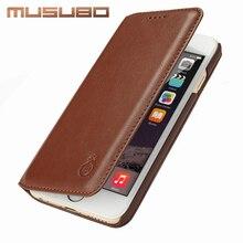 MU S убо ультра тонкий телефон ca s e для iPhone 7 plu S натуральная кожа роскошные ca s e s Чехол для Apple iPhone 6 plu S 6S 5 5 S SE Flip Case s