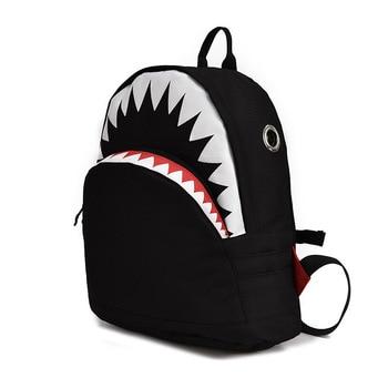 Kids 3D Model Shark School Bags Baby mochilas Child's School Bag for Kindergarten Boys and Girls Bagpack Child Canvas Backpack 1