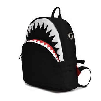 Kids 3D Model Shark School Bags Baby mochilas Child\'s School Bag for Kindergarten Boys and Girls Bagpack Child Canvas Backpack