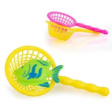 New 1PC Magnetic Fishing Handle Net For Plastic Fish Toy Family Indoor Games Gift Kids Children Fishing Net Color Random Ship(China)