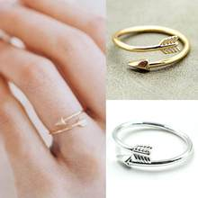 1pc Alloy Bijoux Femme Pink Knuckle Ring Men Jewelry Wedding Gift One Direction Tiny Arrow Wrap Rings Velishy(China)