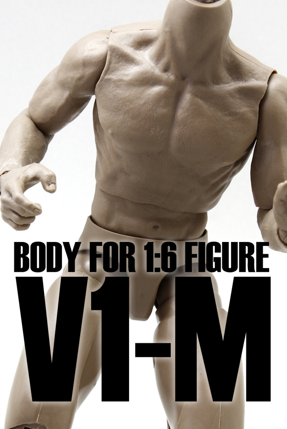 V-1M Model 1/6 Scale Nude Muscular Body V1-M Male Action Figure Doll Toy Fit HT Hot Toy Head Sculpt Collectible Toys In Stock image
