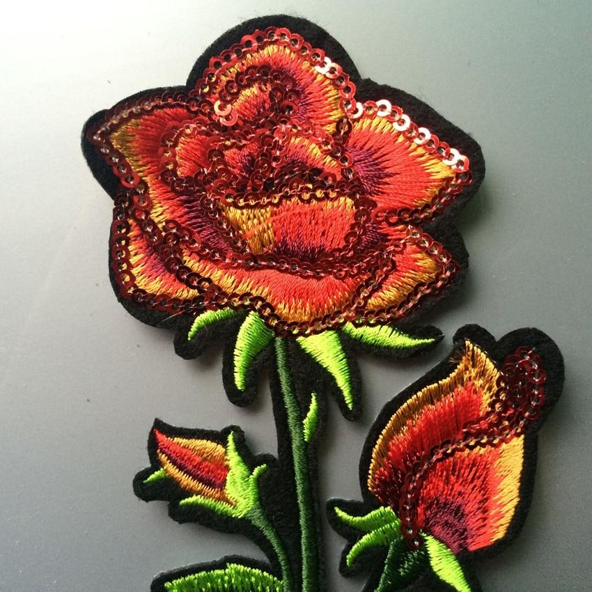 Gyönyörű rózsaszirom virágos galléros vasaló a javításra - Művészet, kézművesség és varrás - Fénykép 4