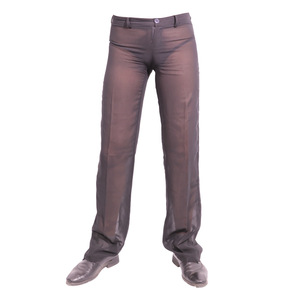 Image 2 - Mens Sexy Chiffon Sheer See Through Loose Fit Pants Straight Leg Nightwear Breathable Sleep Bottoms Man Full Length Trousers