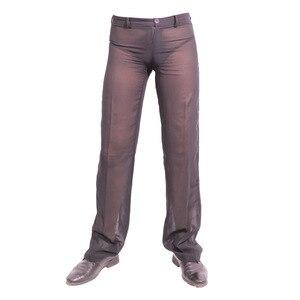 Image 2 - ผู้ชายเซ็กซี่ชีฟอง Sheer ดูผ่านหลวม Fit กางเกงขาตรงชุดนอน Breathable Sleep Bottoms Man ความยาวเต็มกางเกง