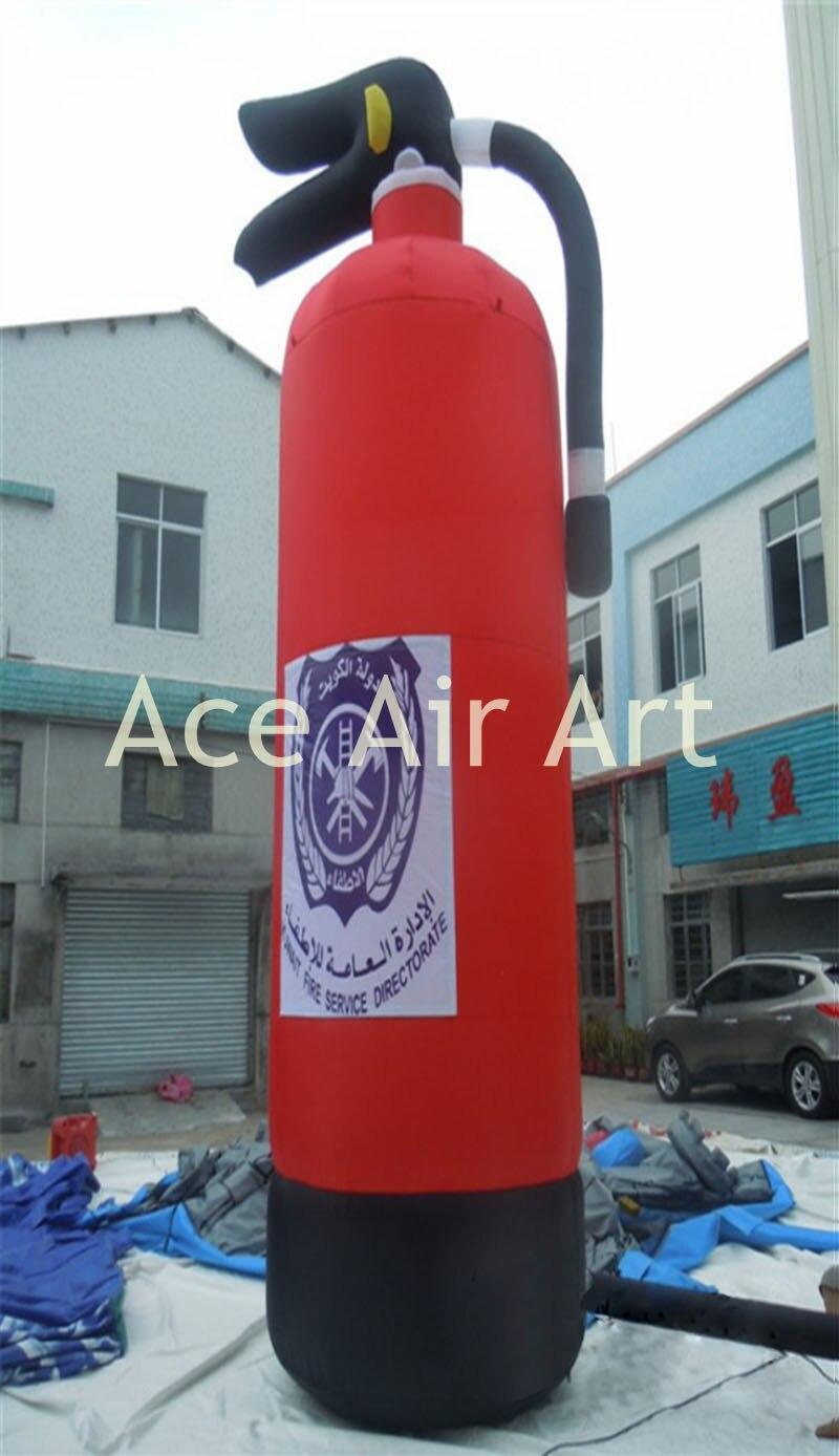 Réplique gonflable article extincteur gonflable pour la décoration publicitaire géante