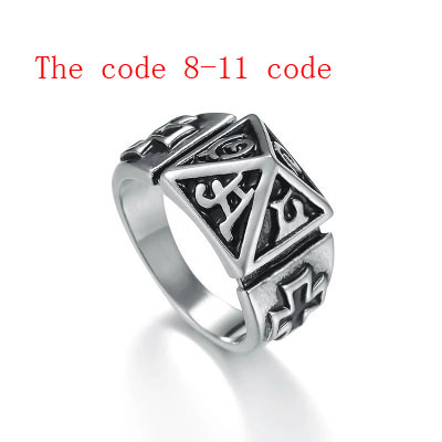 Outdoor Multi-Functional Ring Pyramid Ring For Protection Against Wolves Can Be Engraved On Men And Women's Color Of Titanium