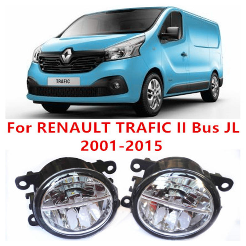 ФОТО For RENAULT TRAFIC II Bus JL  2001-2015 Fog Lamps LED Car Styling 10W Yellow White 2016 new lights