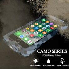 Водонепроницаемый чехол для iphone 7 7 плюс обложка жесткий жесткий алюминиевый противоударный защитите чехол для iphone 7 плюс случае бола принципиально coque чехол на айфон 7 чехол на айфон 7 plus