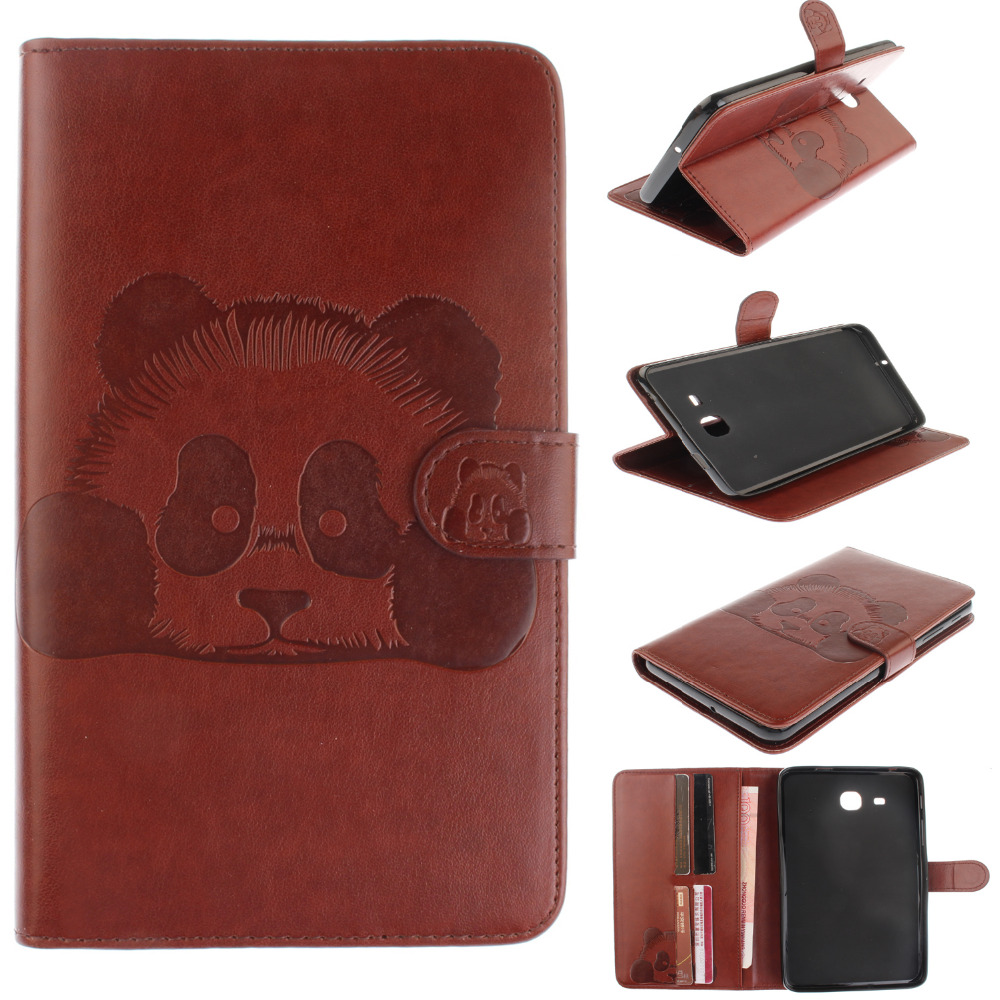 Ultra Slim Embossed Panda Cartoon Print Stand PU Leather Cover Case For Samsung Galaxy Tab A 7.0 T280 SM-T280 T280N T285 Tablet ultra thin business stand smart pu leather cover for samsung galaxy tab a t280 t285 7 0 tablet case with magnet free stylus pen