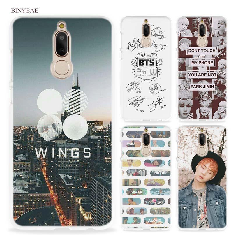 BINYEAE BTS Bangtan Boys Music Hard Clear Case Cover for Huawei Mate 10 P8 P9 Lite Y5 II Y6 Y3 2017 Mini Honor 9