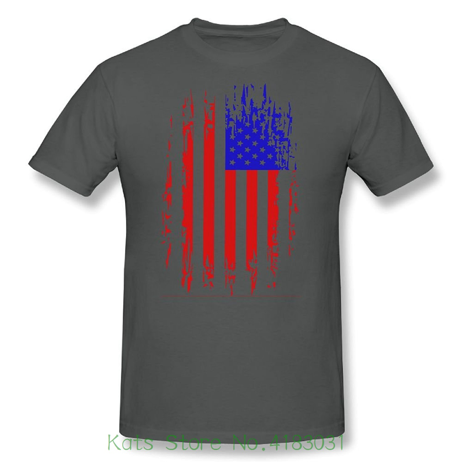 Han Shi Blouse , Men Fashion American Flag Short Sleeve Plus Size T-shirt Tee Tank Fashion New Top Tees Tshirts
