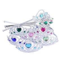 TOP Designer Fro.zen Princess Crown Hairbands Kids For Girls Best Birthday Gift Children Hair Clip Magic Wand Sets Jewelry XRN15