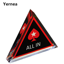 Yernea Baccarat Texas Holdem Poker All In Button Triangle Acrylic All In Button Texas Hold'em PokerStars Poker Cards  Poker Chip цена в Москве и Питере