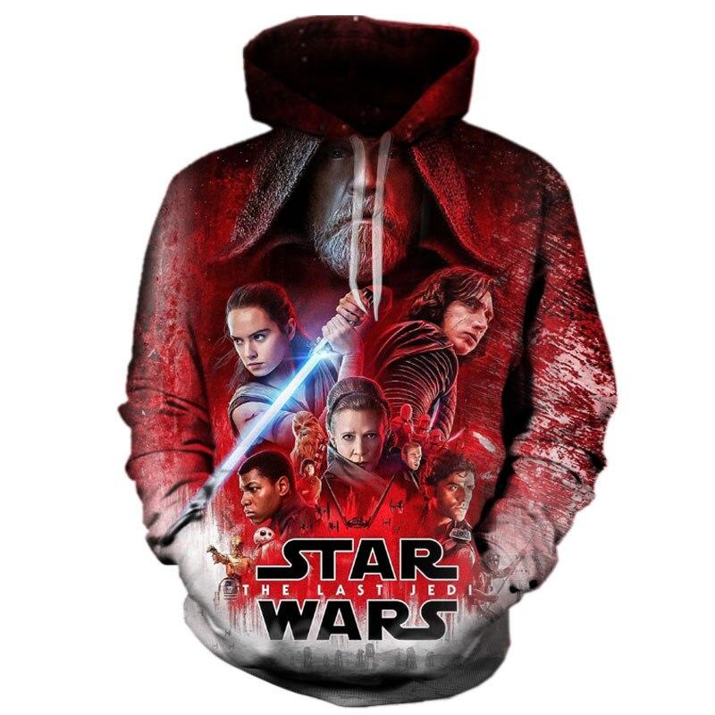 Дропшиппинг Для мужчин Для женщин new star войны 3D Толстовка Мода Для мужчин последний джедай персонаж Дарт Вейдер Отпечатано с капюшоном одеж...