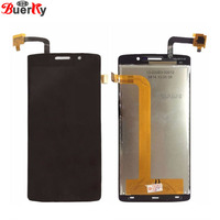 BKparts 100 Tested 1pcs Black LCD For Fly IQ4504 Full LCD Display Panel Digitizer Glass Assembly