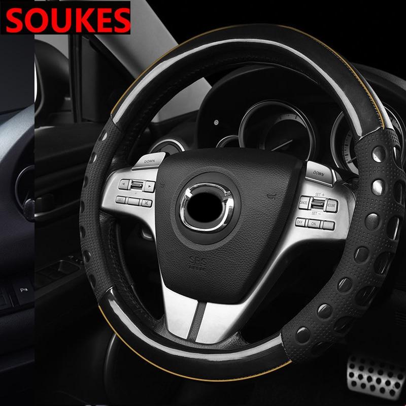 Artificial Leather Car Steering Wheel Cover Interior For Nissan Qashqai Opel Astra J H G Skoda Octavia A7 Volvo XC90 V70 Subaru
