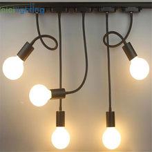 L40cm Hose Neck E27 Track Light Gooseneck Rail Ceiling Mounted Track Lighting Industrial Clothing Store Adjusted Rail Lamp Spots