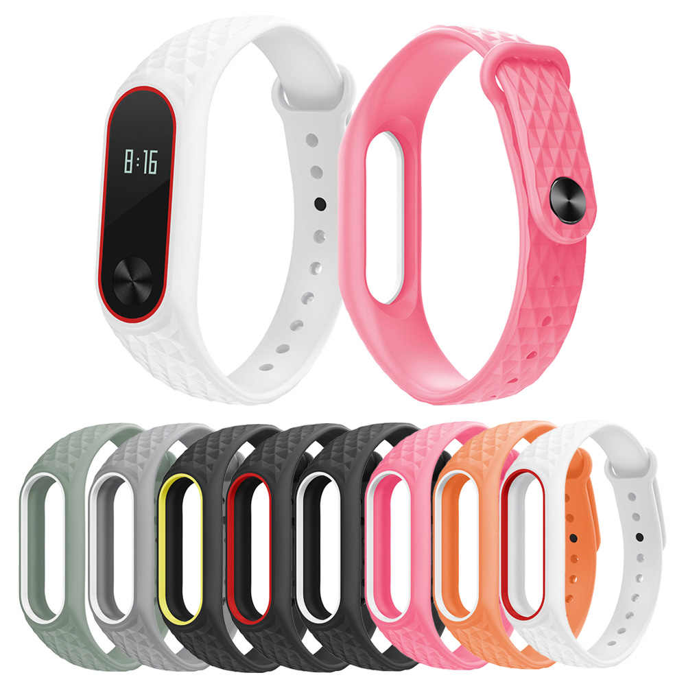 Colorful Bracelet for Xiaomi Mi Band 2 Strap Silicone Strap for M2 Bracelet Wristbands Band Wrist Strap for Xiaomi Mi Band 2