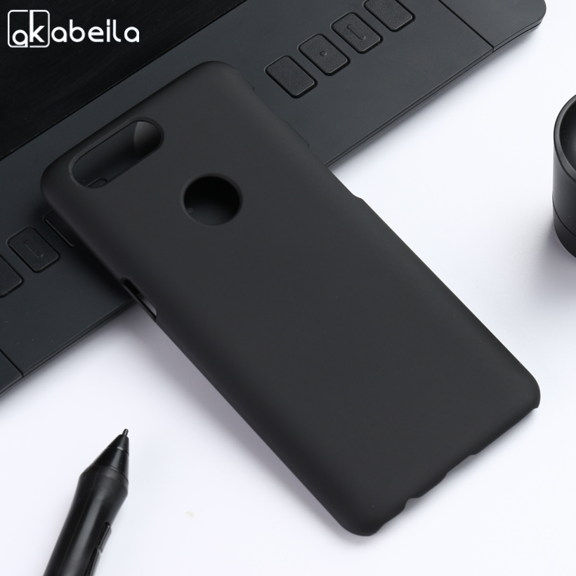 AKABEILA Slim Oil PC Case For OnePlus 5T Case Hard Plastic Matte Black Cases Coque For One Plus 5T Cover For Oneplus 5 T Etui