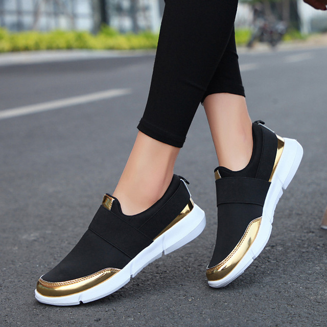 Spring Autumn Women Slip On Loafers Ladies Casual Comfortable Flats Female Breathable Stretch Cloth Shoes Fashion Zapatillas 1