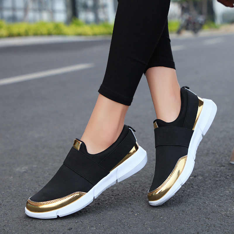 Women Canvas Loafer Breathable Flat Slip On Oxfords Running Sneaker Shoes Casual