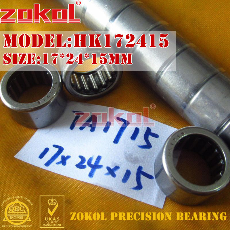 ZOKOL Bearing HK172415 TA1715  HK172420 TA1720 Needle Roller Bearing 17*24*15mm 17*24*20mm