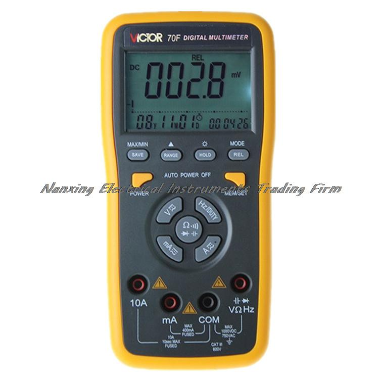VICTOR VC70F Digital Multimeter Intelligent multimeter automatic identification capacitance resistance band store victor vc9805a  digital multimeter 2000