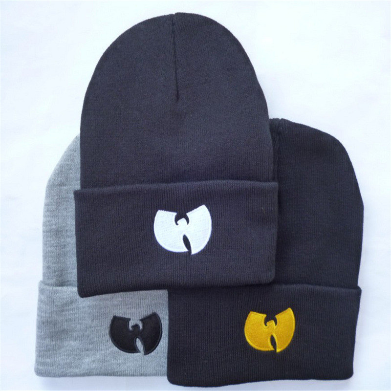 2018 High Quality WU TANG CLAN Men's Hats Unisex Winter Warm Casual   Beanie   Hat Women Hip Hop Black Knitted Bonnet Ski cap