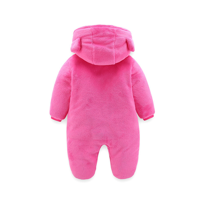 New Born Baby Autumn Winter Thicken Rompers Baby Boys Girls Warm Cartoon Clothes Infant Baby Velvet Jumpsuit Toddler Out Pajamas