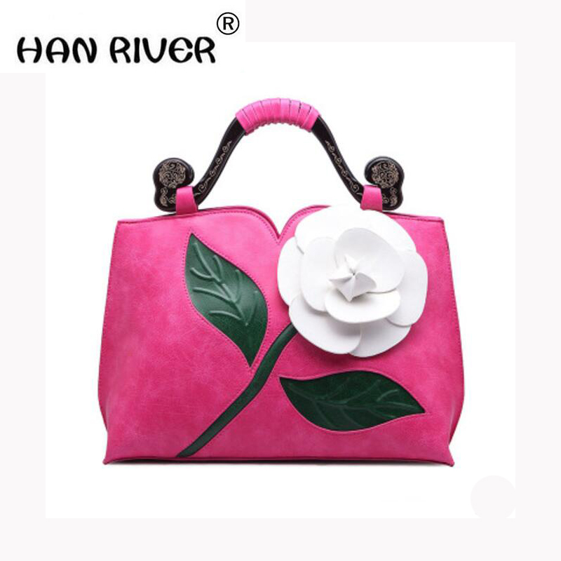 HANRIVER The air rose of the classic vintage style of 2018 is matched with elegant ladies' fashion national style shoulder bag виниловые пластинки joni mitchell ladies of the canyon