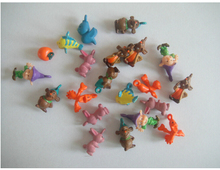 50pcs/lot cute mini animal capsule toys 1.2cm, kids cartoon small toys for baby gifts wholesale