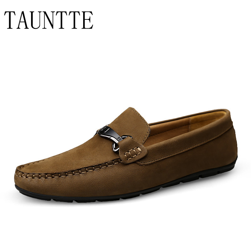 Tauntte Men's Cow Leather Loafers Anti-odor Breathable Genuine Leather Casual Driving Shoes Male Moccasins fashion men boat shoes genuine leather casual shoes breathable male anti odor casual shoes
