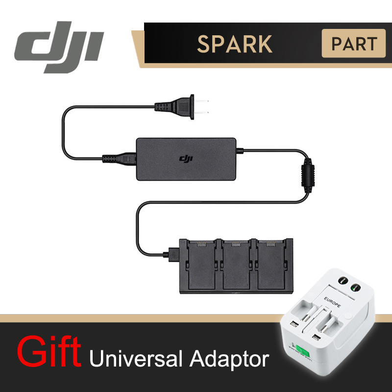 DJI Spark Battery Charger Hub AC Power Adapter Intelligent Flight Battery Charger Original dji phantom 3 battery charging hub power management for phantom3 series charger original accessories