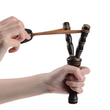 1Pcs Powerful Slingshot Rubber Band  Wood Made Game Tool Outdoor Sports Accessories Catapult Toys