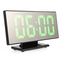 Повтор времени ночной ЖК-Светильник Настольный Reloj Despertador USB кабель цифровой будильник светодиодный зеркальные часы многофункциональные
