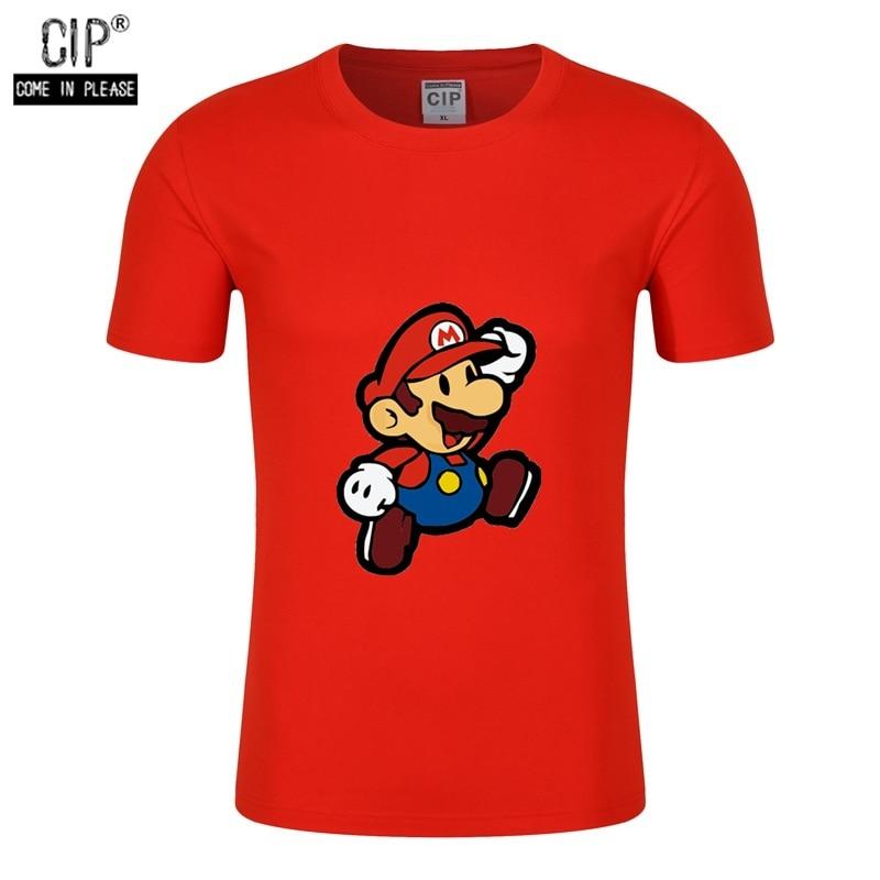 CIP 100%Cotton Short Sleeve Summer Children T-Shirts Game Boys Super Mario Bros Kids Tees Boys T Shirts Tops Brand Clothes Shirt