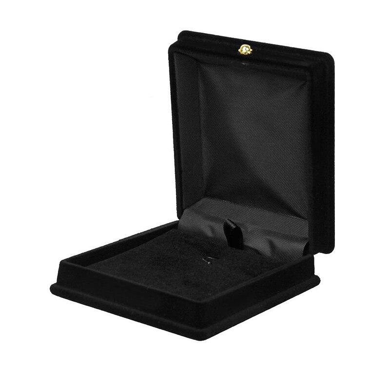 1 X Velvet Necklace Chain Jewelry Display Storage Box Gift Case Holder Organizer---Black