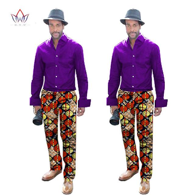 2017 Nuevos Mens de La Llegada Ropa Casual Hombre Pantalones Dashiki Africano Impresión Elegante Del Diseñador Masculino de Ocio Pantalones 6XL BRW WYN291