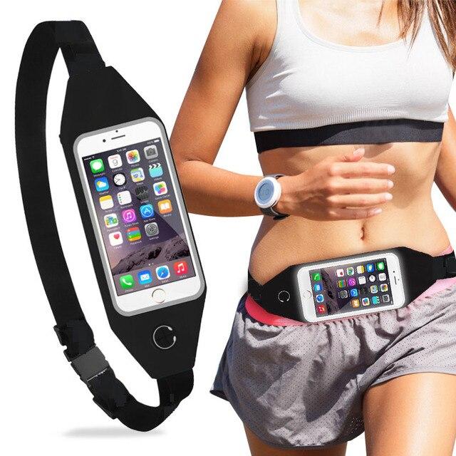low priced 2bbfc f6b85 US $2.69 10% OFF|Unisex Running Armband Indoor Outdoor Waterproof  Adjustable Packs Running Belt Smart Mobile Phone Holder Jogging Gym Belt-in  Armbands ...