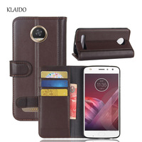 KLAIDO Genuine Cow Leather Case For For Motorola Moto Z2 Play Case Luxury Capa For Moto