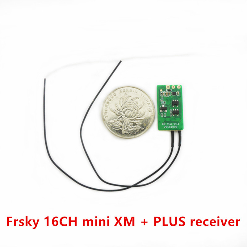 Original Frsky 16CH mini XM + PLUS receiver for indoor FPV small quadcopter PWM SBUS