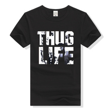 Men T Shirt Hip Hop Thug Life T-Shirt  2Pac Tshirt Tupac Hiphop Tee