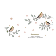 Birds Tree Branch Wall Stickers Home Decor Living Room TV Sofa Background Decorative Wall Decoration DIY Mural Art PVC Decals цена