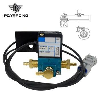 PQY EBC 3 Port elektroniczny turbo Boost kontrolny zawór elektromagnetyczny dla 08 18 Subaru STI nikiel wtyczka PQY ECU01 w Zawory i części od Samochody i motocykle na