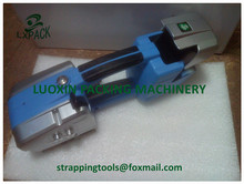 Battery powered plastic strapping tools for narrow plastic strapping bander for mobile strapping applications