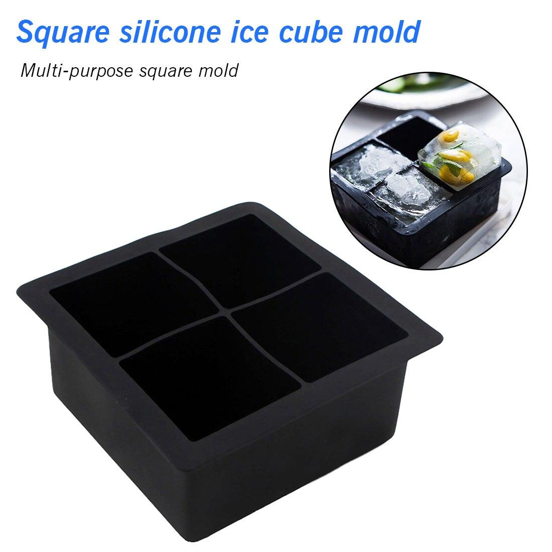 Big Giant//Jumbo Silicone Ice Cube Making Square Tray Mold //Mould Large King-Size