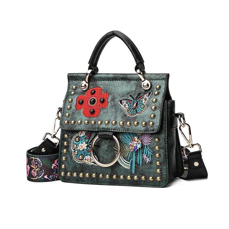Kvinnor Varumärken Handväskor Med Rivet Färgglada Butterfly - Handväskor - Foto 3