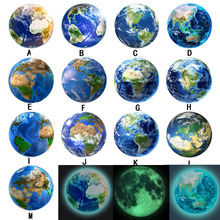 5cm Luminous Moon Earth Cartoon DIY 3D Wall Stickers for Kids Room Bedroom Glow In The Dark Sticker Home Decor Living